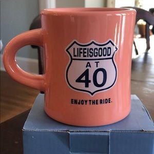 Life is Good at 40 Mug, NIB.